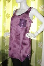 dgoodthings sale:Marley dyed ladies tank top,tunic,sequined pocket & sides(L)