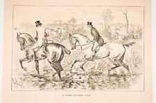 deux scènes de chasse anglaise, journal anglais vers 1880