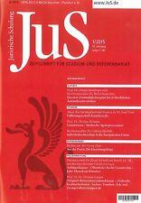 JuS Juristische Schulung 1/2015, Zeitschrift für Studium und Referendariat