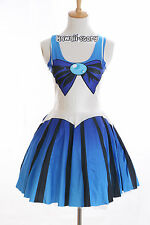 SK-03 Gr. S-M  Sailor Moon Merkur blau Kleid dress Cosplay Manga Japan Anime