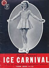 MARCH 3 & 4 1939 MONTREAL FORUM ICE CARNIVAL PROGRAM