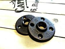 "1/2 Malleable Iron Pipe Fittings Black Floor Flange 1/2"" Threaded BSP Wall Mount"