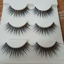 3Pair New Natural Eyelashes Makeup Handmade Thick Fake Cross False Eyelashes Set