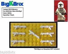 x7 Each DC15 WHITE Blasters Blaster for LEGO Star Wars Minifigures Minifig