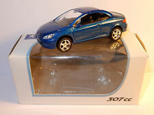 NOREV 3 INCHES 1/54 PEUGEOT 307 CC BLEU FONCE METAL 150 CV 220 KM/H IN BOX