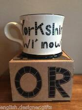 NEW Moorland Pottery Yorkshire born & bred wi' nowt teken out mug- Gift Boxed