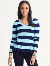 Banana Republic striped peplum sweater, S, NWT