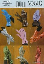 Vogue 7949 Women's FASHION GLOVES Sewing PATTERN in 9 styles 3 sizes S-M-L *NEW*
