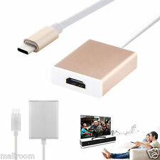 USB-C Type C USB 3.1 Male to 1080P 4Kx2K HDMI HDTV Adapter Kable for Macbook 12""