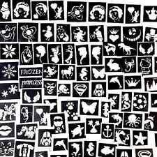STENCILS  X100 TOP UP YOUR GLITTER TATTOO KIT a mix of boys &girls plus seasonal