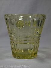 Mini Sektkübel Eiskübel Eiseimer aus gelbem Pressglas  Piccolo-Kühler Ice-Buket