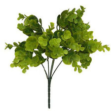 "15"" Plastic EUCALYPTUS BUSH ~ GREENERY Filler Silk Flowers Centerpieces Wedding"