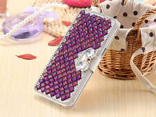 Luxury Bling Crystal Diamond Leather Case Cover Women Wallet For Samsung S002