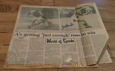 1974 Baseball Clippings Los Angeles Dodgers Al Downing Joe Ferguson Oakland A's
