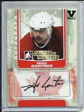 Mike Gartner 10/11 In The Game Canada vs the World Autograph