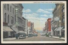 POSTCARD~MANSFIELD OHIO OH~MAIN STREET ROGERS JEWELERS RICHMANS STORE~1920'S