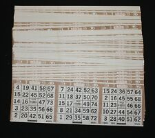 BINGO PAPER Cards , 3 on 1 Horizontal Brown,  125 sheets  FREE SHIPPING in US