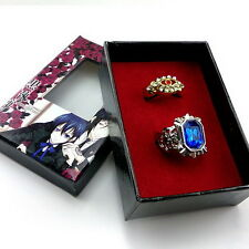 Black Butler Kuroshitsuji Ciel Alois Trancy Cosplay rings 2pcs New in Box Q