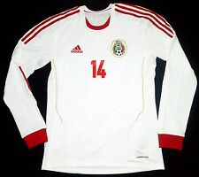 Mexico 13-14 Chicharito Hernandez Away Player Issue Shirt Real Madrid Bayer