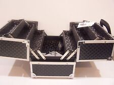 B Damaged new caboodles train case makeup cosmetic organizer tres chic storage