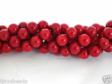 3mm Red Coral Round Gemstone Beads for Jewellery Making