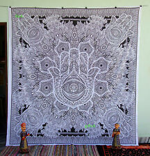Islamic Hamsa Hand Tapestry Indian Queen Wall Hanging Hippie Bedspread Indian06