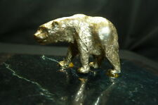 VINTAGE ARTHUR COURT BEAR NAPKIN/ PAPER WEIGHT….BRASS AND MARBLE