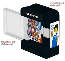 Lego Ice Cream Vending Machine 10185 10182 Instructions Stickers Arcade 10243