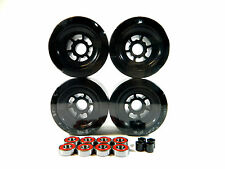 FREE SHIPPING Black Longboard Flywheels 97mm x 52mm + ABEC 7 Bearing + Spacer