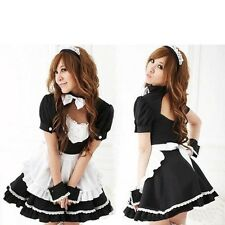 Halloween Novetly Women Costumes  Bowknot  Maid Costumes  Women Cosplay Dress
