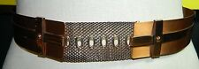 VTG Matisse RENOIR Copper Metal Belt Size M - B