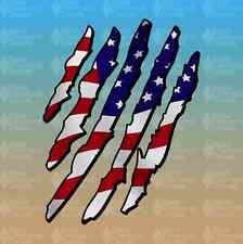 "American Flag Eagle Claw Merica America Murica 7"" Custom Vinyl Decal Sticker JDM"