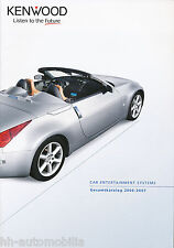 Prospekt Katalog Kenwood Car Entertainment 2006/2007 Autoradio Endstufen Lautspr