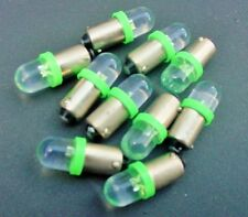 10 Plymouth Green 12V LED Instrument Panel BA9S 1815 Lights Bulbs 1895 Globes