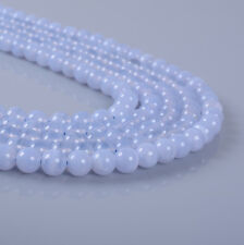 """4mm319 4mm A grade Blue lace agate chalcedony round loose beads 16"""""""