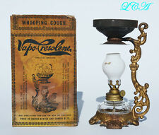 ORIGINAL miniature antique VAPO CRESOLENE lamp QUACK MEDICINE cure-all COMPLETE