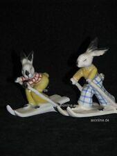 +# A004437_07 Goebel Archiv Muster 2 Zwei Hasen fahren Ski Skifahren KT763