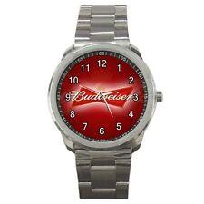 Budweiser American Lager Beer logo #J01 Sport Metal Watch
