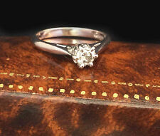 Beautiful 18ct, 18k, 750 White Gold, Diamond 0.25ct Solitaire engagement ring