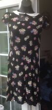 BNWT - ATMOSPHERE BLACK & COLOURED FLORAL CAP SLEEVE SHORT DRESS - SIZE 6
