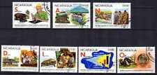 Animaux Faune sauvage Nicaragua (50) complète 7 timbres oblitérés