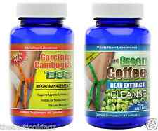 Pure Green Coffee Bean Extract Cleanse Garcinia Cambogia 60% HCA Combo Pack