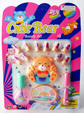 RARE VINTAGE 80'S CARE BEARS BEAUTY SET PLAYSET FOR GIRLS NAILS MAKEUP NEW MOSC!