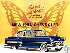1954 Chevrolet Belair Coupe, Blue, Refrigerator Magnet, 40 MIL THICK