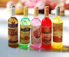 1pcs Miniature Dollhouse Kitchen Red Wine Bottles Lanscape DIY Decor Ornaments