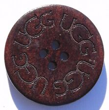 HOLIDAYS SPECIAL!!  One Wooden Button for UGG boots, 1' round, Brown Color