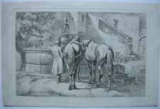 Johann Adam Klein (1792-1875) Russischer Fuhrmann Orig Radierung 1812