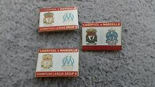 Liverpool v Marseille  match pin badge champions  league group D 2008/2009
