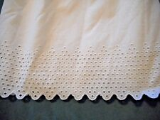 "Gorgeous White Eyelet Lace Queen Bedskirt 20"" Country Cottage French Country"