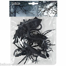 6 Halloween Horror Black Plastic Toy Creepy Creatures Party Gifts Loot Favours